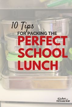 10 Tips to Pack Brilliant School Lunches and avoid wasting food. When you throw away food, you throw away money. http://www.kitchenstewardship.com/2012/08/28/eat-well-spend-less-10-tips-to-pack-brilliant-school-lunches-avoid-wasting-food