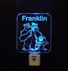 Kids Personalized Custom #MonstersInc. #Mike Wazowski #Sulley and #Boo LED Night Light - Unique LED Products #personalizedgift #LED #lamp #uniqueledproducts #cleveland Unique LED Products