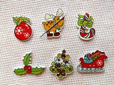 Hey, I found this really awesome Etsy listing at https://www.etsy.com/listing/557620221/christmas-needle-minders-wooden-needle