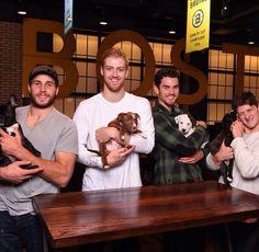 Dougie Hamilton, Matt Bartkowski, Adam McQuaid, Torey Krug & puppies