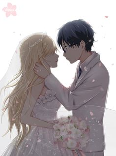 Shigatsu wa Kimi no Uso - Arima Kousei, Miyazono Kaori || zerochan.net// If only this was true my life would feel like heaven. But we all know its not so we are able to live with reality. <3 My love