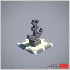 Anchor Statue #minecraftfurniture