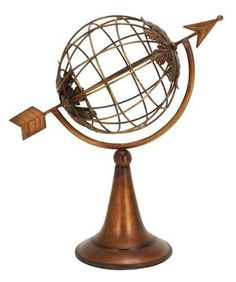 Benzara 66470 15 in. Metal Armillary Sphere Globe Solar Earth with Arrow by Benzara. $38.54. Dimension: 15H x 15W.. Design is stylish and innovative. Satisfaction Ensured.. Great Gift Idea.. Perfect Nautical theme with Armillary globe.. Armillary globe is skeletal sphere with earth model on a round base stand.. Metal Armillary Sphere Globe Solar Earth with Arrow. Armillary globe is skeletal sphere with earth model on a round base stand. Perfect Nautical theme with Armil...