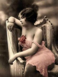Tinted 1920's postcard.