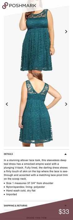Torrid2 lace illusion empire dress Torrid2 lace illusion empire dress torrid Dresses