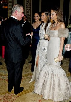 Isabel Preysler, Ana Boyer and Tamara Falco with the Prince of Wales at Prince's Foundation for Children and the Arts - Royal Charity Galla Dinner 2011