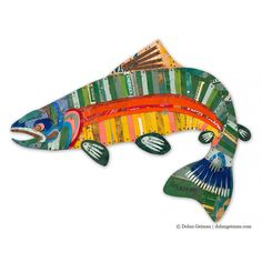 Trophy Fish Collection: Trout by Dolan Geiman (Metal Wall Sculpture) Fish Sculpture, Metal Wall Sculpture, Wall Sculptures, Metal Tree Wall Art, Metal Art, Diy Art, Dolan Geiman, Trophy Fish, Paper Collage Art