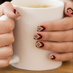 Ukrainian embroidery motifs nail beauty