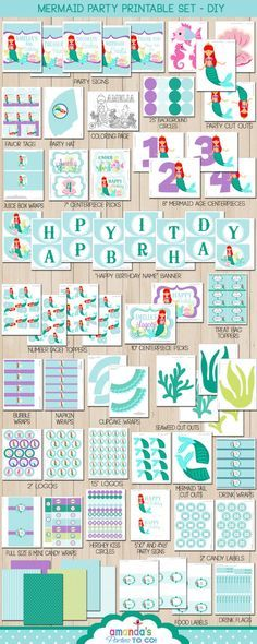 Mermaid Party Decorations Mermaid Birthday by AmandasPartiesToGo