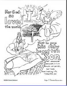 John 3:16 color pages - - Yahoo Image Search Results