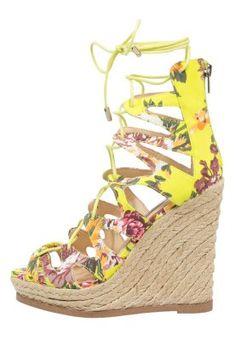 THEEA - Sandaletter med kilklack - bright multicolor
