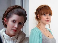 Show off your love for Star Wars by wearing your hair like Princess Leia.
