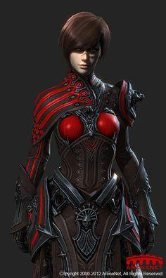 Guild Wars 2 Human female light armor Ambassador by BoyangZhu