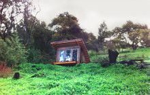 Quirky Cabana: Little Retreat Blends into Sloped Landscape | Designs & Ideas on Dornob