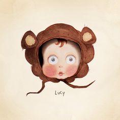 Custom personalised children's portraits by LittleMugPortraits
