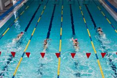 1 hour swim workout: The main set is pick-your-distance for the allotted time, so the workout can be done by swimmers of all levels.