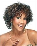 Hot Sale Graceful Hairstyle Natural Short Curly about 10 Inches Dark Brown Wig