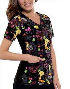Cherokee Tooniforms - Cartoon Character Prints Scrubs