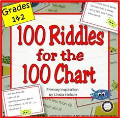 More riddles a freebie number riddles 100 chart and math build math skills vocabulary inference and use of key details with this set ccuart Gallery