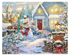Diamond Painting - Christmas Snowman - Floating Styles - Diamond Embroidery - Paint With Diamond - free worldwide shipping. We also offer tools like lighting pad, diamond painting kits including quick painting pens. Christmas Puzzle, Christmas Night, Christmas Snowman, Vintage Christmas, Merry Christmas, Christmas Stockings, Christmas Decor, Winter Christmas Scenes, Winter Holidays