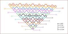 Shawl Poncho Au Crochet, Crochet Shawls And Wraps, Knit Or Crochet, Crochet Scarves, Crochet Hooks, Crochet Diagram, Crochet Chart, Crochet Patterns, Summer Patterns