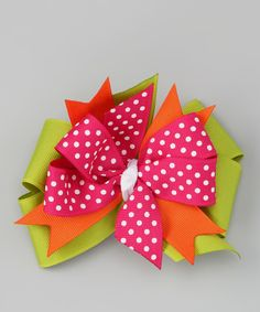 Pink Pumpkin Bow Clip by Waistin' Away on #zulily