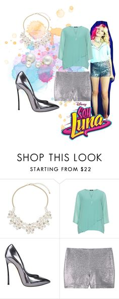 """soy luna"" by maria-look on Polyvore featuring Dorothy Perkins, Frapp, Casadei, MANGO and Allurez"