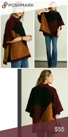Elaine Poncho Oversized Multi color poncho Sweaters Shrugs & Ponchos