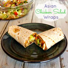 Asian Chicken Salad Wraps Recipe : Upstate Ramblings  #TysonMovieTicket  #shop