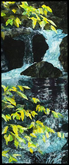"""Melody Randol - 2012, 78"""" x 32"""", """"I stive to capture the natural world by combining the nobility of a fine painting with the boundless intrigue of fiber art.""""  Love her work and she was a good friend in a time of great need."""