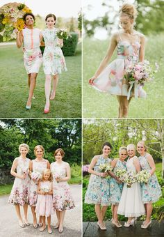 20 Stylish Chic Short Bridesmaid Dresses We Love! Floral Print