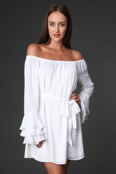 CARLEE OFF SHOULDER DRESS. #fashion #dress #clothing #ad
