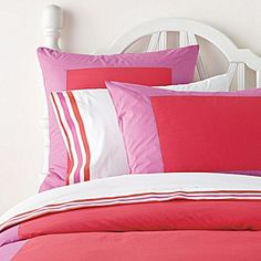 Color Frame Duvet & Shams – Watermelon/Violet #serenaandlily