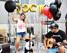 Rockstar Birthday Party with a bandstand stage. Toddler Boy Birthday, Rockstar Birthday, 1st Birthday Girls, Birthday Ideas, Rock N Roll, Rock And Roll Girl, Rock And Roll Birthday, Pop Star Party, Party Rock