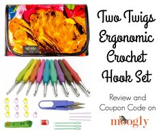 Subscribe to the Free Weekly Newsletter I recently received the brand new Two Twigs Ergonomic Crochet Hook Set so I could review it here on Moogly – and so I can pass on a coupon code to all of you! The Two Twigs Ergonomic Crochet Hook Set is one of the most complete sets I've [...]