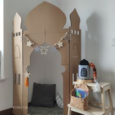 This is a DIY kit for a Corner Stand Pop-up Masjid. It is essentially a giant fun puzzle for you to complete as a family. This kit comes flat. Ramadan Diy, Ramadan Crafts, Ramadan Decorations, Decoraciones Ramadan, Jasmin Party, Prayer Room, Japanese Paper, Diy Kits, Diy Paper