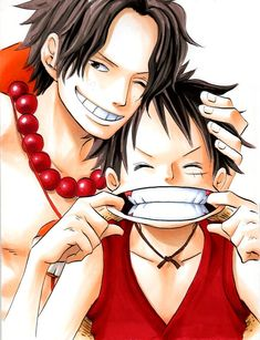 Luffy Brother Ace | Tags: Anime, ONE PIECE, Monkey D. Luffy, Portgas D. Ace, Acluf