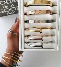 All items are available for sale here at Cartier ring 2500 Cartier bracelet Cartier nail bracelet To order kindly send a dm or order via whatsapp by clicking on the link in our bio Cartier Nail Bracelet, Cartier Armband, Cartier Love Bangle, Cartier Jewelry, Jewelery, Cute Jewelry, Jewelry Accessories, Fashion Accessories, Boho Jewelry