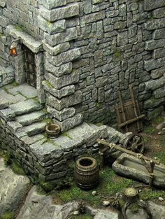 Building the medieval city - Page 25 Miniature Crafts, Miniature Houses, Warhammer Terrain, Game Terrain, Medieval Houses, Wargaming Terrain, Modelos 3d, Fantasy Miniatures, Warhammer Fantasy