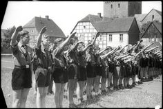 Members of the Hitlerjugend, 1942 in Soest, Germany.