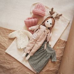 "342 Likes, 5 Comments - Лера Шерхоева (@lera_sherhoeva) on Instagram: ""Набор ""Олененок"" 4000р. #lerusha #doll"""