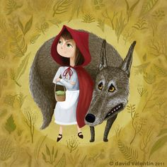 Little Red Riding Hood - Le Petit Chaperon Rouge Little Red Hood, Little Red Ridding Hood, Red Riding Hood Wolf, Charles Perrault, Serpentina, Big Bad Wolf, Illustration Art, Illustrations, Werewolf