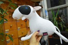 white bull terriers, dog plush toy from KIZIU MIZIU monsters & toys & accessories by DaWanda.com