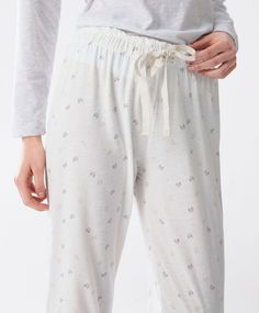 Croissant print trousers - Bottom Half - Winter SALE 2016 trends in women fashion at Oysho online. Find lingerie, pyjamas, slippers, nighties, gowns, fluffy, maternity, sportswear, shoes, accessories, body shapers, beachwear and swimsuits & bikinis.