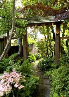 """My sister-in-law calls our yard """"The Secret Garden"""" - she should take a look at this one!"""