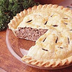French Canadian Meat Pie - Very close to my family recipe. Replace the allspice with nutmeg and it's heavenly!