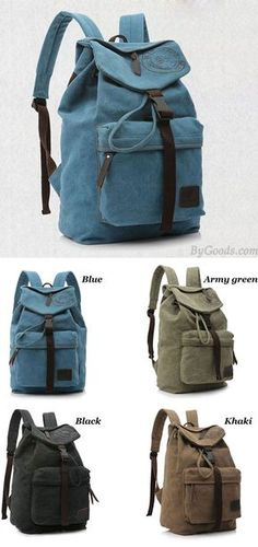 Leisure Vintage Canvas Shoulder Bag/Backpack/Schoolbag for big sale