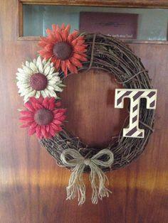 Homemade wreath! Super easy!