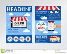 Nice Marketing Brochure Templates Set   Marketing Brochure