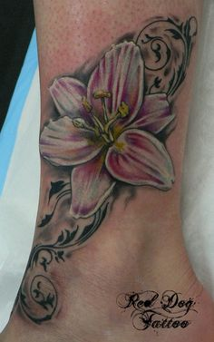 Ankle Lily - 60+ Ankle Tattoos for Women  <3 !